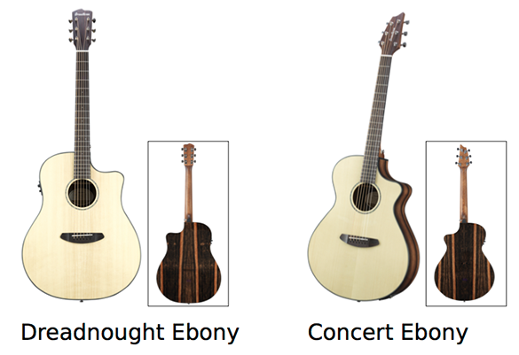 Dreadnought Ebony & Concert Ebony